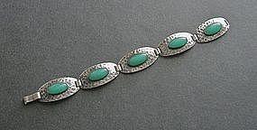 Vintage Hammered Sterling Bracelet Arts and Crafts
