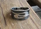 Vtg Modernist Taxco Sterling Cuff Bracelet Signed CP