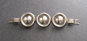 Vintage Rare Mexican Silver Brooch Johanna Van Ryn