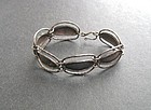 Vintage Arts and Crafts Hammered Silver Bracelet
