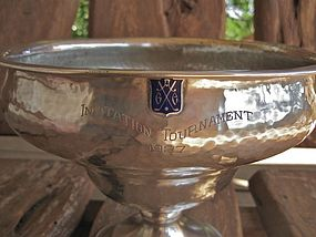 Large Hammered Sterling 1927 California Golf Trophy