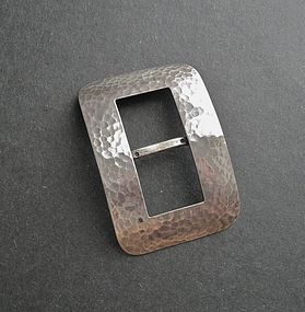 Marshall Field Arts and Crafts Hammered Silver Buckle