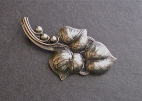 Vintage Sterling Arts and Crafts Daniel Pedersen Handmade Brooch