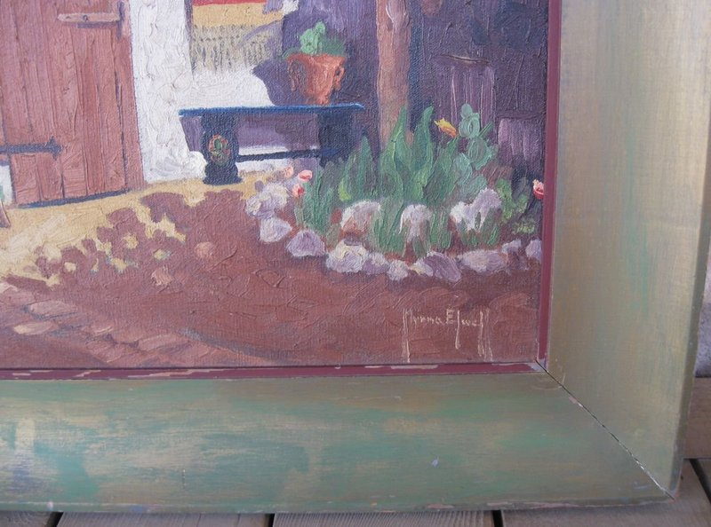 Listed California Artist 1930's Southwestern Painting