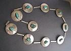Vintage Silver Native American Concha Belt Unusual