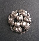 Kalo Sterling Hand Wrought Brooch Cherries 109