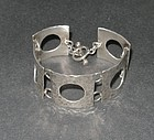 Vintage Modernist Sterling Hammered Bracelet