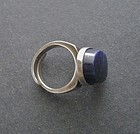 Modernist David Andersen Norway Sterling Lapis Ring