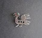 Vintage Laffi Unusual Sterling Silver Enamel Brooch