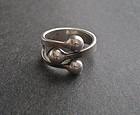 Anna Greta Eker AGE Norway Plus Studio Modernist Ring Sterling