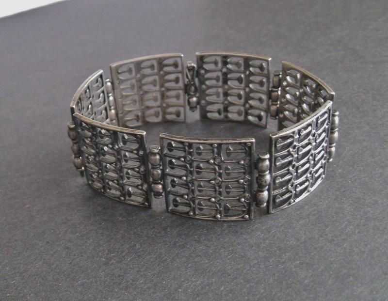 Vtg Modern Finland Kultateollisuus Ky Bracelet Silver