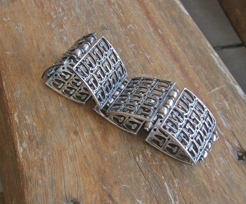1970 Jorma Laine Kultateollisuus Ky Modernist Finland Bracelet Silver