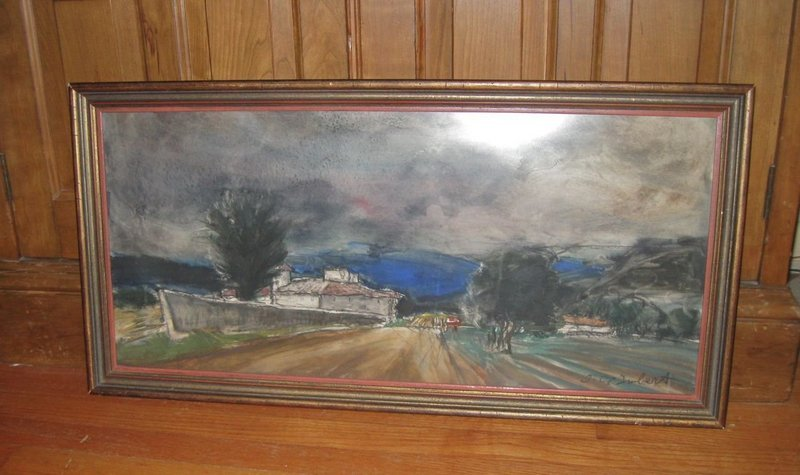 Jean Claude Imbert Listed French Artist Watercolor