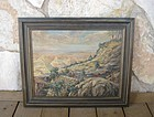 Listed Artist Gladys Weaver Long 1940 Western Painting