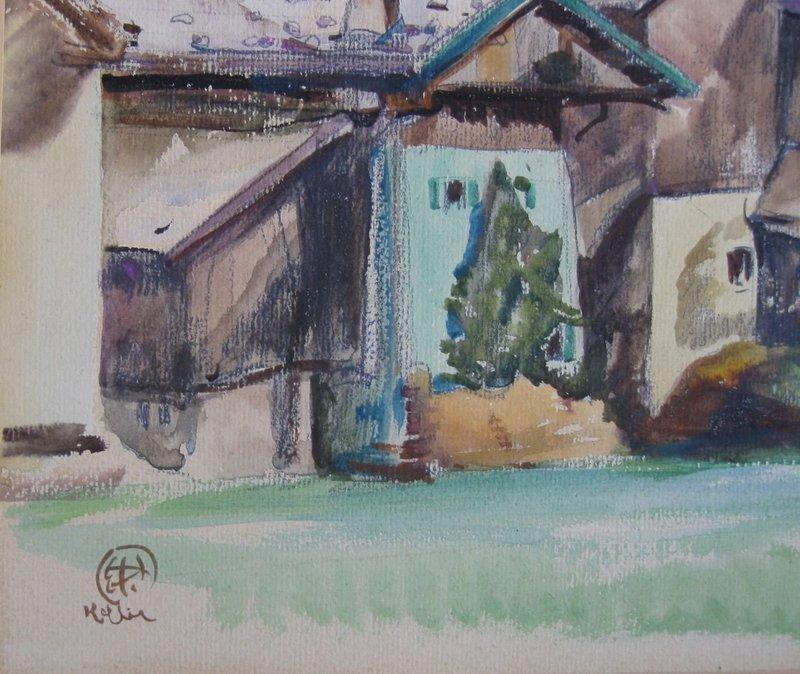 Henry George Keller Ohio & California Artist Watercolor