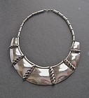 Early Frank Patania Sr. Heavy Sterling Necklace Thunderbird Shop