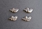 Rare Hubert Harmon Set of Four Fish Buttons Sterling