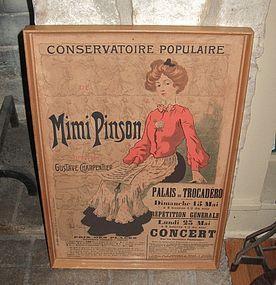 1902 Mimi Pinson French Poster Greer Garson Estate