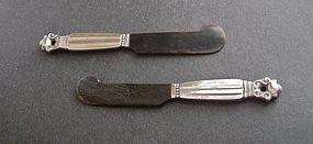 Pair of Georg Jensen Denmark Sterling Horn Spreaders