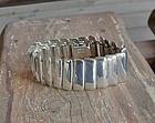 Vintage Taxco Sterling Heavy Modernist Bracelet