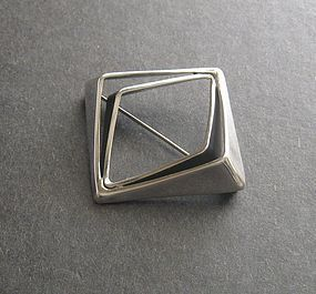Tone Vigeland Norway Amphi Sterling Brooch