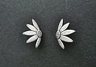 Sterling 950  Janiye Miye Matsukata Sunflower Earrings