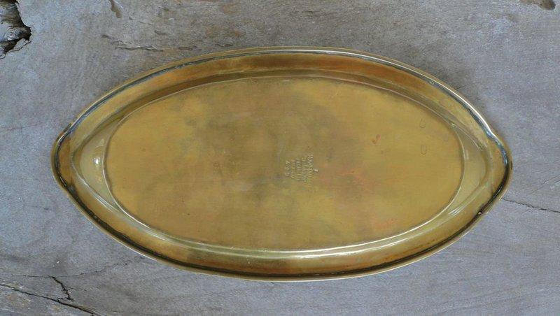 Modernist Salvador Teran Marlin Tray Brass Tile