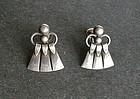 Vintage Just Andersen Danmark Sterling Silver Earrings