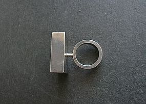 Modernist Arne Johansen Denmark Large Ring
