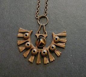 Pentti Sarpaneva for Kalevala Koru Finland Bronze Pendant