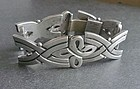 Vintage Heavy Sterling Taxco Mexico Bracelet Eagle 3 Signed