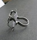 Hand Wrought Vintage Sterling Iceland Modernist Ring JPC 925S
