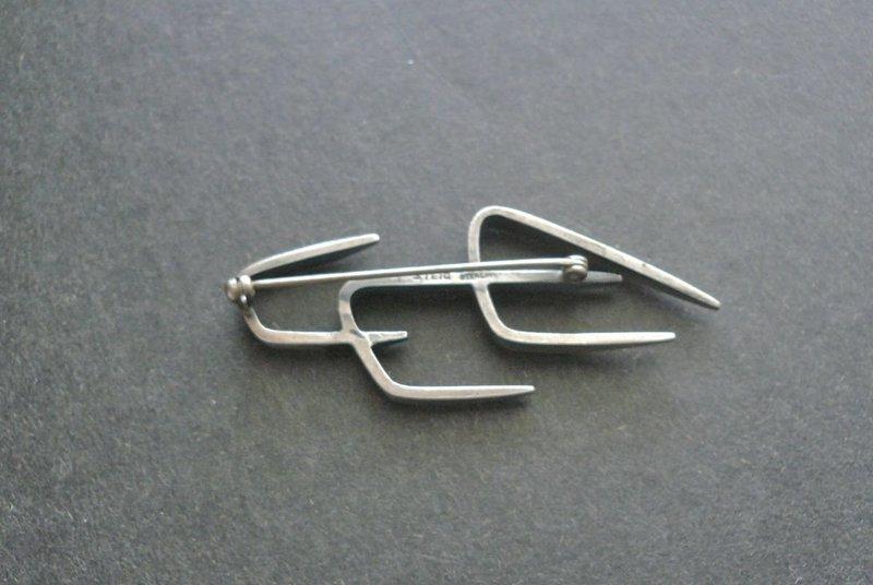 Vintage Henry Steig Modernist Sterling Silver Brooch