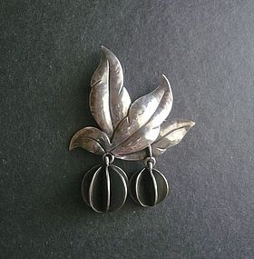 JoPoL Joan Polsdorfer Sterling Brooch Arts and Crafts