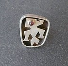 Vintage Modernist ED WIENER Sterling Silver Amethyst Ring SZ 7