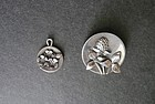 Vintage Sterling Brooch and Charm Pendant Signed LCP Hand Made