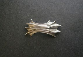 Ronald Pearson Sterling Silver Unusual Modernist Brooch