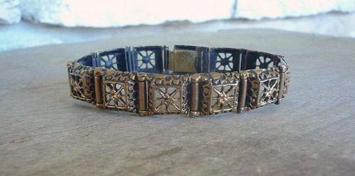 Pentti Sarpaneva Bronze Rauma Lace Bracelet Finland Modernist