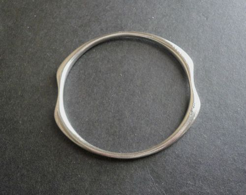 Vintage Modernist Georg Jensen Sterling Bangle Bracelet 155 Ditzel