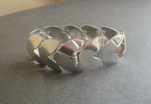 Fred Davis Attrib. Chevron Mexican Sterling Bracelet Pre Eagle