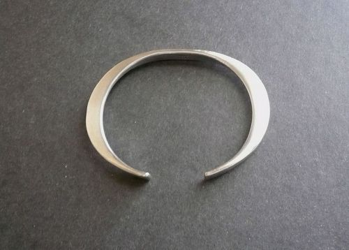 Heavy Sterling Modernist Cuff Bracelet Flower Hallmark