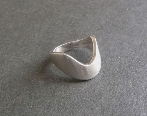 Vintage Modernist Georg Jensen Sterling Ring A77 A Size 6.5