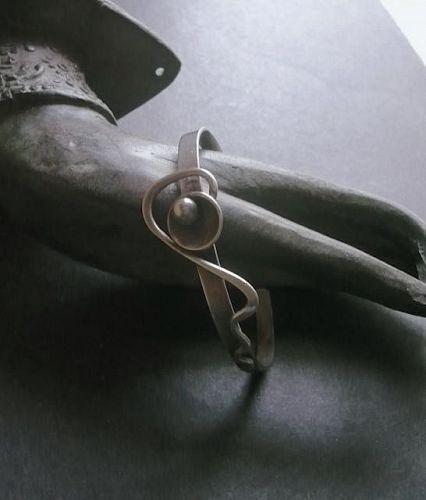 Paul Miller Sterling Vintage Mid Century Modernist Bracelet Cuff