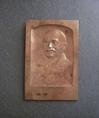 Boris Schatz Bronze Plaque Joseph Schonthal Judaica Bezalel