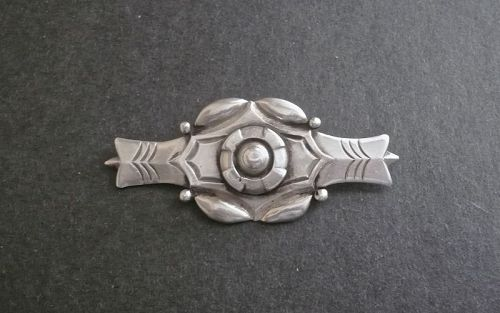 Rare Early William Spratling Sterling  Brooch Taxco Mexico WS Mark