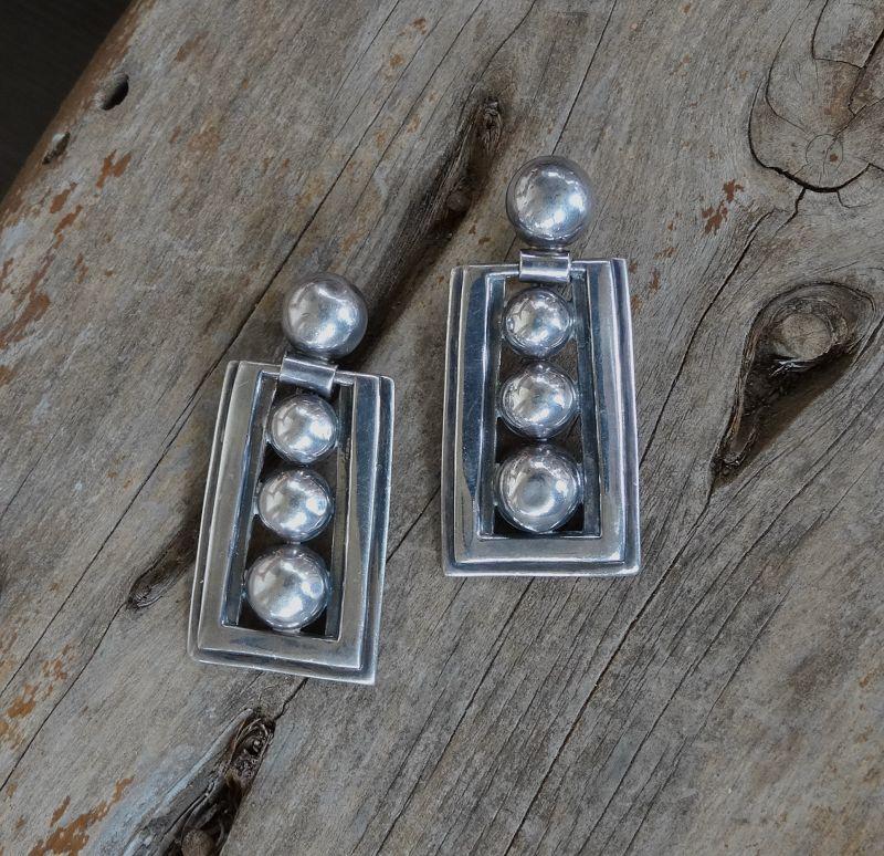 Vintage Margot de Taxco Sterling 5247 Earrings Eagle #16 Clips