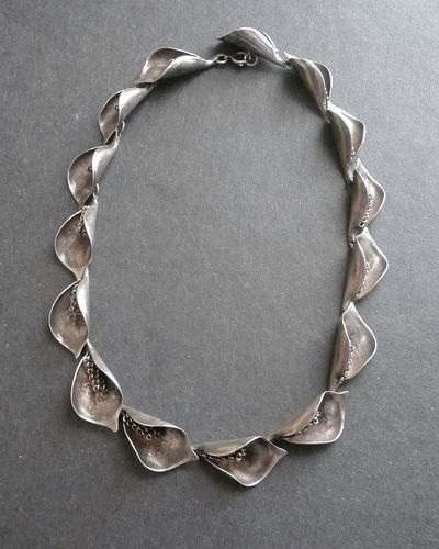 Anton Michelsen Gertrude Engel Necklace Sweden Sterling