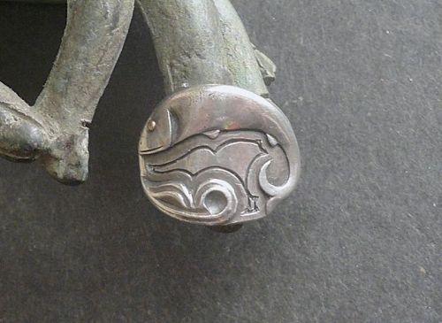 Rare Harry Dixon San Francisco Ring Sterling Fish Size 6.5 Arts Crafts