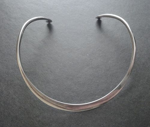 Andreas Mikkelsen Sterling Denmark Neck Ring Necklace Modernist