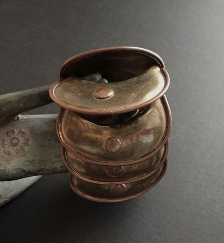 Vintage Modernist Armadillo Bracelet Copper Brass Mexico Maya Aguilar